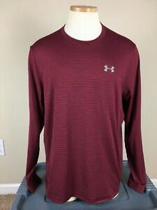 Under Armour Cold Gear Burgundy Long Sleeve Loose Shirt Men's Size L