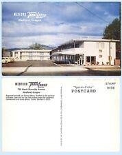 Travelodge Motel Medford Oregon  Retro Advertising Postcard Signage