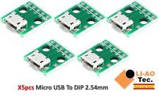 5pcs Mirco USB to DIP Adapter 5pin Female Connector B Type PCB Converter