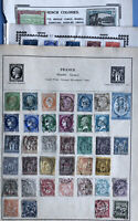 France Stamp Collection On 8 Pages