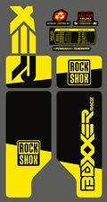 ROCK SHOX BOXXER 2010 FORK / SUSPENSION DECAL SET  NEON YELLOW