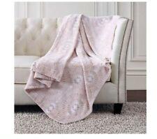 New Christian Siriano Oversized Plush Throw Blanket Orange 60 x 70