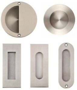 Flush Pull Recessed Sliding Door Handle Round Square Oval Oblong Moon SSS or PSS