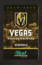 Vegas Golden Knights--2019-20 Pocket Schedule--Yes AC & Plumbing