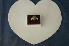 Beautiful 925 Silver Ring With Unakite Gems 5.5 Gr. 1.4 x 1 Cm. Wide In Gift Box