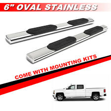 "6"" S/S Nerf Bars Side Steps Running Boards For 2007-2017 GMC Sierra Crew Cab"