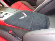 Fits Chevy Corvette C7 2014-2019 Corvette Embroidered Center Console Cover Black