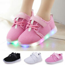 LED Light Up Boys Girls Toddler Luminous Sneakers Kids Casual Sports Shoes N09