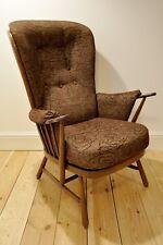 Vintage retro 60's Ercol ercol Evergreen armchair (model 1913) fruitwood finish