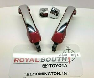 Toyota Tundra Barcelona Red 3R3 and Chrome 2 Door Handle Kit Genuine OE OEM