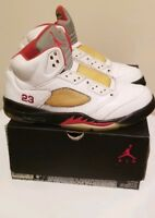 Air Jordan 5 Fire Red Retro Pack 2008 Silver Tongue OG $$$ Size 8.5 136027-163
