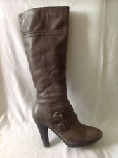 Dorothy Perkins Brown Knee High Leather Boots Size 5