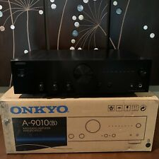 Onkyo A-9010 Integrated Stereo Amplifier with Remote Adult Owned Smoke Free Home
