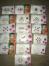 6 Pack BEAUTIFUL INDIAN TRADITIONAL BINDIS(STICKER TATTOOS)FOR FACE (USA SELLER)