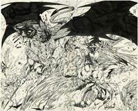 LIGHTS N THUNDER Page 2&3 John Wycough Double Splash Original Fantasy Comic Art