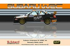 Greetings card Subaru Impreza WRC S7 #5 Biesheuvel / Schillemans Version 3