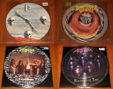 ANTHRAX 4x PICTURE DISC VINYL Lot PERSISTENCE OF TIME / MY WORLD / LAUGH / LODGE