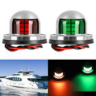 2pcs Marine Boat Yacht Pontoon 12V Stainless Steel 8 LED Bow Navigation Lights