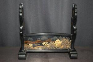 (BA-69) High Grade Beautiful Gold MAKIE painting KATANA-KAKE