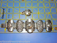 """Awesome .925 Sterling Bracelet & 1 Earring, Aztec Design Made In Peru 6 1/2"""""""