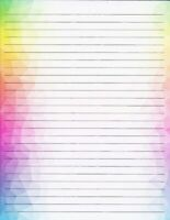 """Multi Color Border Lined Stationery 8.5""""X11""""  25 sheets and 10 color envelopes"""