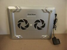 Gear Head Notebook Laptop Cooling Pad  USB Power Cable & Switch 2 Fans Tested