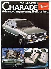 Daihatsu Charade 1981-83 UK Market Leaflet Sales Brochure Base XG XTE