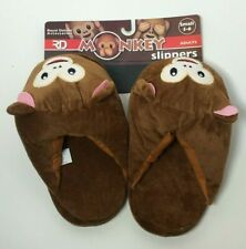 Royal Deluxe Ny Brown Monkey Adult Slippers Size: Small 5-6, Free Shipping