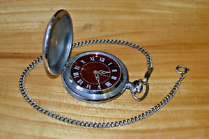 VINTAGE pocket watch MOLNIJA MOLNIYA mechanical soviet made in USSR Original