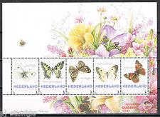 3012 blok van 5  zomerzegels 2014 De seizoenen - Vlinders - najaar Butterflies