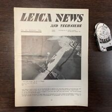 Leica News and Technique, number 20. August 1936