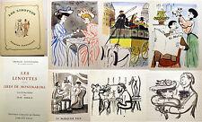 COURTELINE/LES LINOTTES+ LIEDS DE MONTMARTRE/ED GRUND/1948/J.OBERLE ILLUSTRATEUR