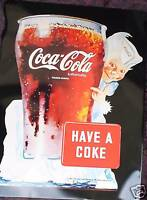Coca-Cola Coke Blechschild 30x40cm Deko Gastronomie Bar Reklame Vintage