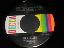 REX ALLEN NM Jose Villa Lobo Alfredo Thomaso Vincente Lopez 45 Tiny Bubbles  7""