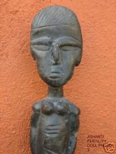 "Antique Ashanti Fertility Doll Ghana 15"""