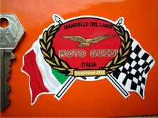 MOTO GUZZI Drapeau & Guirlande Moto Casque Autocollant LeMans California Vinyle