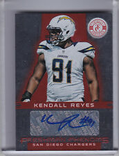 2012 TOTALLY CERTIFIED #181 KENDALL REYES AUTO. ROOKIE RC CHARGERS 133/290
