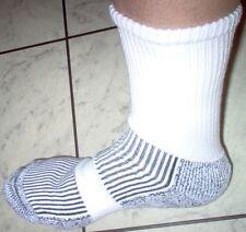 12 PR Loose Top Cotton Cushion Foot Diabetic Health Sports Socks Australian Made 6 Black 6 White 11-14