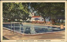 Littlefield Az Beaver Dam Lodge Linen Postcard