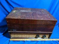 Webcor Musicale Coronet Record Changer Player Turntable Wood Case VTG Antique