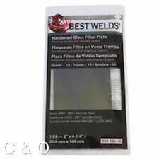 SHADE 10 WELDING FILTER PLATE - 2 x 4.25 HARDENED GLASS LENS for WELDING HELMET