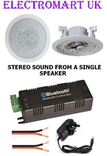 "WIRELESS BLUETOOTH STEREO AMPLIFIER 30W + 1 STEREO 6.5"" 100W CEILING SPEAKER"
