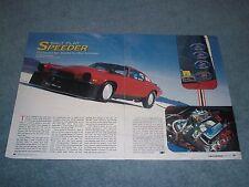 "1973 Chevy Camaro Land Speed Race Car Article ""Salt Flat Racer"" Bonneville"