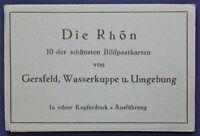 Leporello Die Röhn um 1925 Geografie Ortskunde Architektur Kultur Postkarten sf