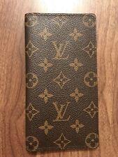 Authentique Utilisé Louis Vuitton Monogramme Toile Unisexe Portefeuille long