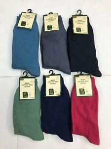 2 New Men Fashion Plain Colour Cotton Rich Ankle Socks 6-11