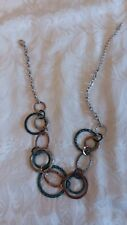 ANTHROPOLOGIE MIX METAL NECKLACE MULTICOLOR ONE SIZE