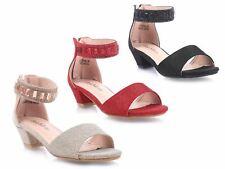 3 Colores Fiesta Boda Vestido de la Juventud espumoso chicas Sandalias Niño Gatito Tacones Zapatos