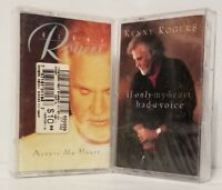 LOT OF 2 NEW SEALED KENNY ROGERS CASSETTE TAPES ~ ACROSS MY HEART & IF ONLY MY