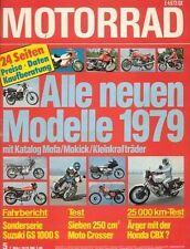 M7905 + Langstreckentest HONDA CBX + alle neuen Modelle 1979 + MOTORRAD 5/1979